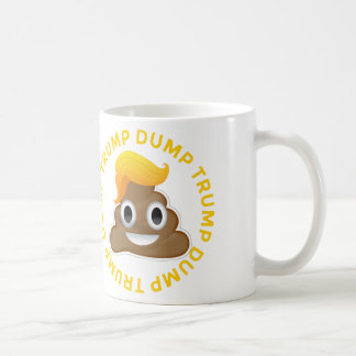 Dump-Trumpf #DumpTrump Anti-Trumpf Donald Poo Kaffeetasse
