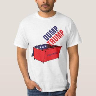 Dump-Trumpf-roter, weißer u. blauer Müllcontainer T-Shirt