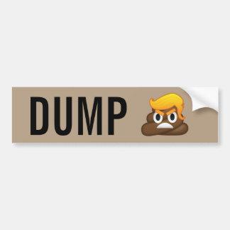 Dump-Trumpf-verärgertes Gesicht kacken Emoji Autoaufkleber