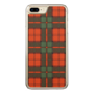 Dunbar Clan karierter schottischer Tartan Carved iPhone 8 Plus/7 Plus Hülle