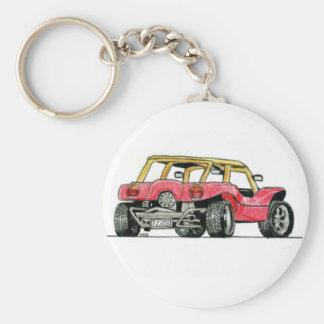 Dünen-Buggy Keychain Standard Runder Schlüsselanhänger