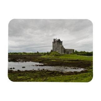 Dunguaire Schloss, rechteckiger Magnet Irlands