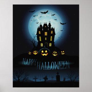 Dunkel elegantes Halloween-Plakat Poster