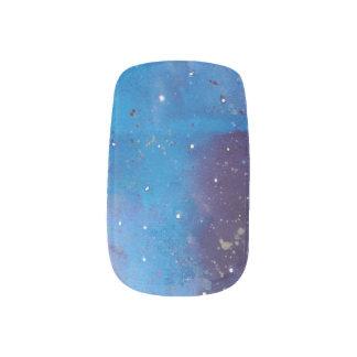 Dunkelblaue Galaxie Minx Nagelkunst