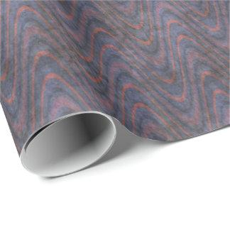 Dunkelblaue malvenfarbene Lavendel-Orangen-Wellen Geschenkpapier