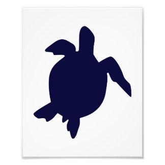 Dunkelblaue Meeresschildkröte vertikales B Kunst Fotos