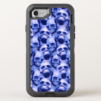 Dunkelblaue Schädel OtterBox Defender iPhone 8/7 Hülle