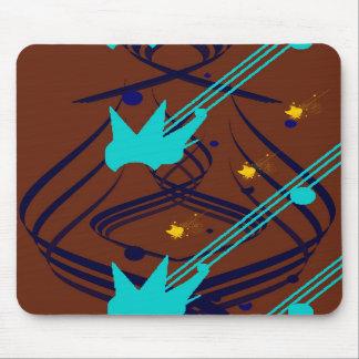Dunkelblaue Vektoren auf Milchschokolade Mousepad