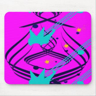 Dunkelblaue Vektoren auf Sizzlin rosa Mousepad