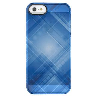 Dunkelblauer High-Techer Hintergrund Durchsichtige iPhone SE/5/5s Hülle