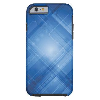 Dunkelblauer High-Techer Hintergrund Tough iPhone 6 Hülle