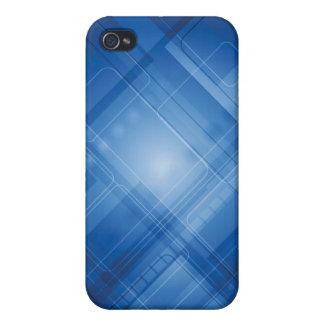 Dunkelblauer High-Techer Hintergrund iPhone 4/4S Hülle