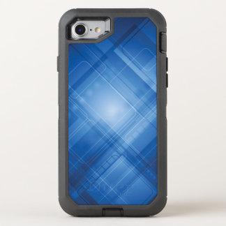 Dunkelblauer High-Techer Hintergrund OtterBox Defender iPhone 8/7 Hülle
