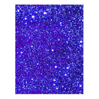 Dunkelblauer Schein-Glitter-Nachthimmel Starfield Postkarte
