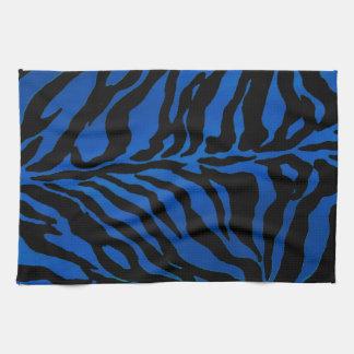 Dunkelblauer und schwarzer Zebra-gestreiftes Handtücher