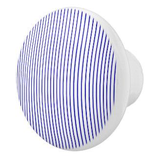 Dunkelblauer weißer Nadelstreifen Keramikknauf