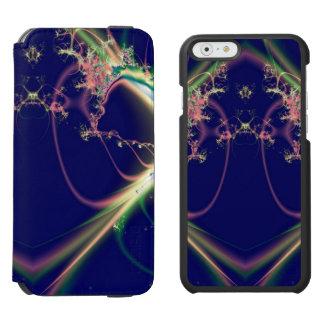 Dunkelblaues Fraktal Design Incipio Watson™ iPhone 6 Geldbörsen Hülle