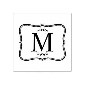 Dunkelblaues Muster - das Monogramm der noblen Gummistempel
