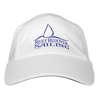 Dunkelblaues RRS Logo auf weißem Hut Headsweats Kappe