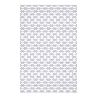 Dunkelblaues und weißes ovales Muster Personalisiertes Druckpapier