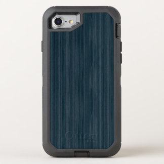 Dunkelblaues Woodgrain-Muster OtterBox Defender iPhone 8/7 Hülle