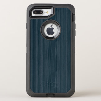 Dunkelblaues Woodgrain-Muster OtterBox Defender iPhone 8 Plus/7 Plus Hülle