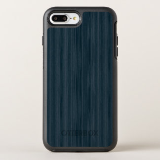 Dunkelblaues Woodgrain-Muster OtterBox Symmetry iPhone 8 Plus/7 Plus Hülle