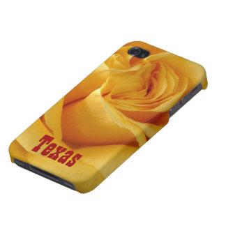 Dunkelgelbes Rose-TEXAS iPhone 4 Case