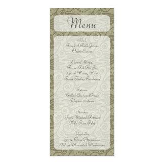 Dunkelgraue braune Wirbelsgestellart-Menükarten 10,2 X 23,5 Cm Einladungskarte