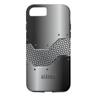 Dunkelgraue Ton-glänzender metallischer Blick iPhone 8/7 Hülle