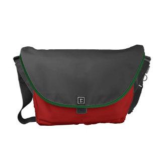 Dunkelgraue und Scheunen-rote Bote-Tasche Kurier Tasche