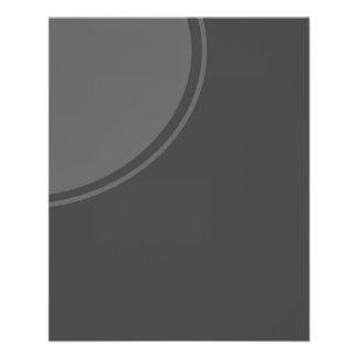 Dunkelgrauer Mod-Kreis Personalisierte Flyer