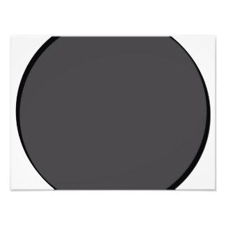 Dunkelgrauer Punkt Fotodruck