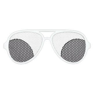 Dunkelgrauer Punkt Partybrille
