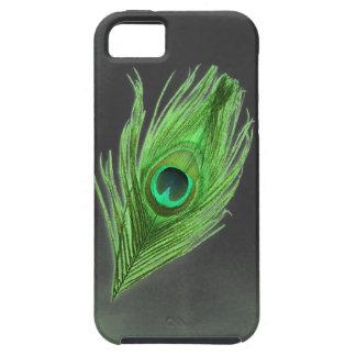 Dunkelgrün auf schwarzem Pfau-Feder iPhone 5 Vibe Schutzhülle Fürs iPhone 5