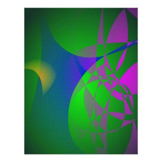 Dunkelgrüne abstrakte Malerei Flyers