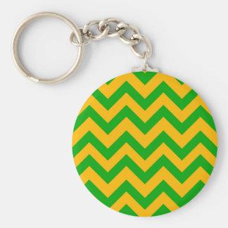 Dunkelgrüne und orange Sparren Schlüsselanhänger