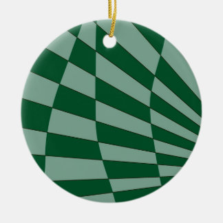 Dunkelgrüner Entwurf Keramik Ornament