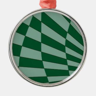 Dunkelgrüner Entwurf Silbernes Ornament