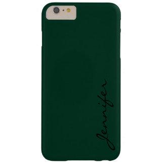 Dunkelgrüner Farbhintergrund #2 Barely There iPhone 6 Plus Hülle