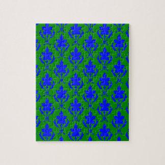 Dunkelgrünes und dunkelblaues verziertes puzzle