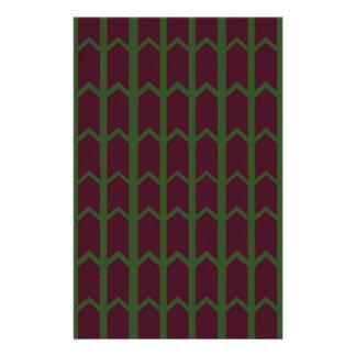 Dunkelheit farbiger Platten-Zaun Briefpapier