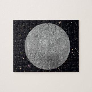 Dunkelheit oder weite Seite des Mond-sternenklaren Puzzle