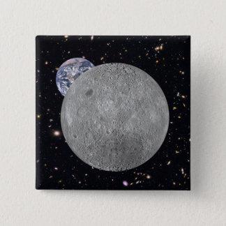 Dunkelheit oder weite Seite des Mond-sternenklaren Quadratischer Button 5,1 Cm