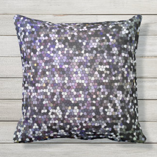 Dunkelheits-beflecktes Glas-Mosaik-Entwurf cool Kissen
