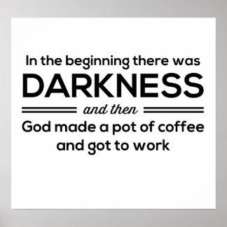 Dunkelheits-dann Kaffee