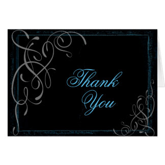 Dunkelheits-glühende blaue Eleganz - danke zu Karte