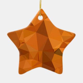 Dunkelorangefarbige Karotten-abstrakter niedriger Keramik Ornament