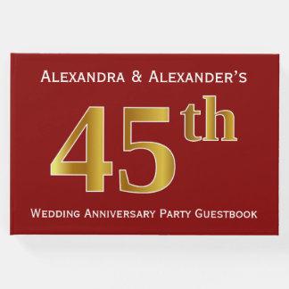 Dunkelrot, Hochzeits-Jahrestags-Party des Gästebuch