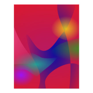 Dunkelrote abstrakte Kunst Vollfarbige Flyer